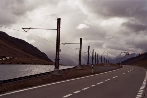 Driving Towards Alpine Peaks on the Oberalppass