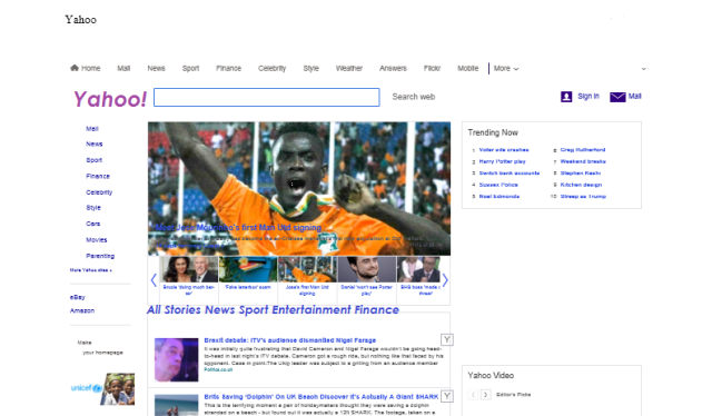 Some of the graphics on the page were not captured (the title name Yahoo and news bar were supplemented)