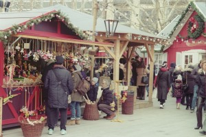 Christmas Market Village, near Opera House, Zurich