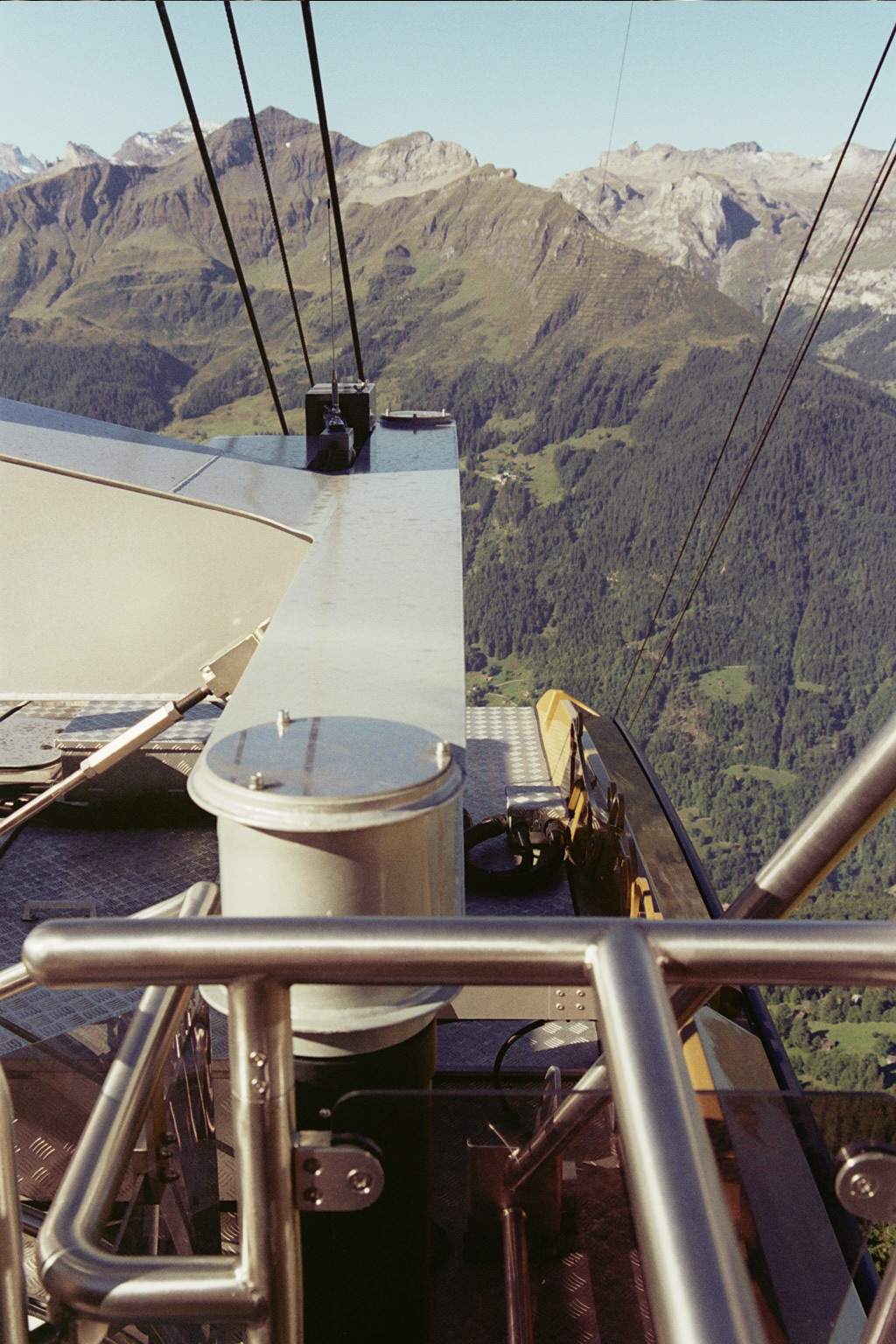 Taking a View from Top of a Cable Car